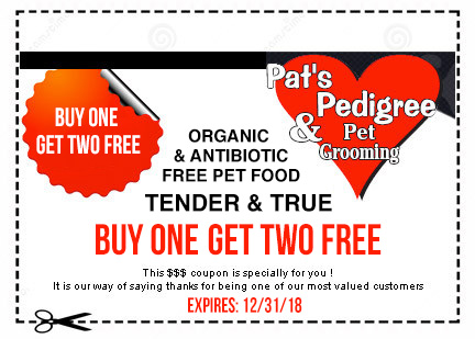 buy one get one coupon of Organic and Antibiotic Tender & True pet food