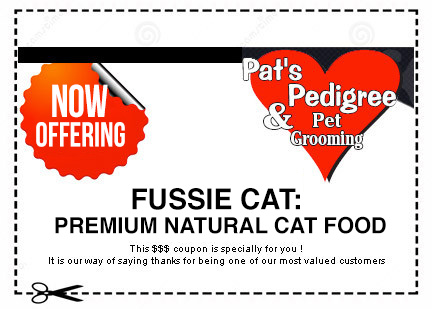 A coupon of $3 off for grooming purchase if you bring a friend